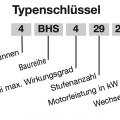 EBARA 4BHS Typenschlüssel