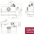 Grundfos Sololift 2 WC-1 Kleinhebeanlage Maße