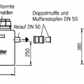 Technische Zeichnung Fettabscheider Mobil