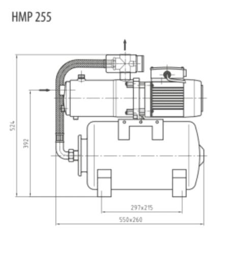 Zehnder HMP 255 Abmessungen