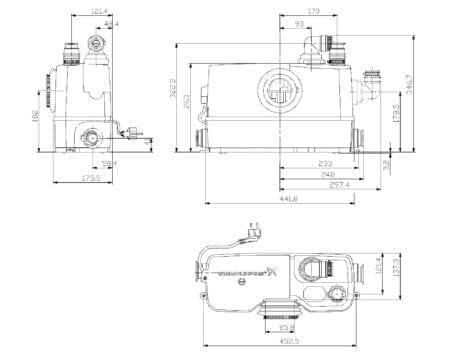 Sololift2 WC-3 Technische Maße