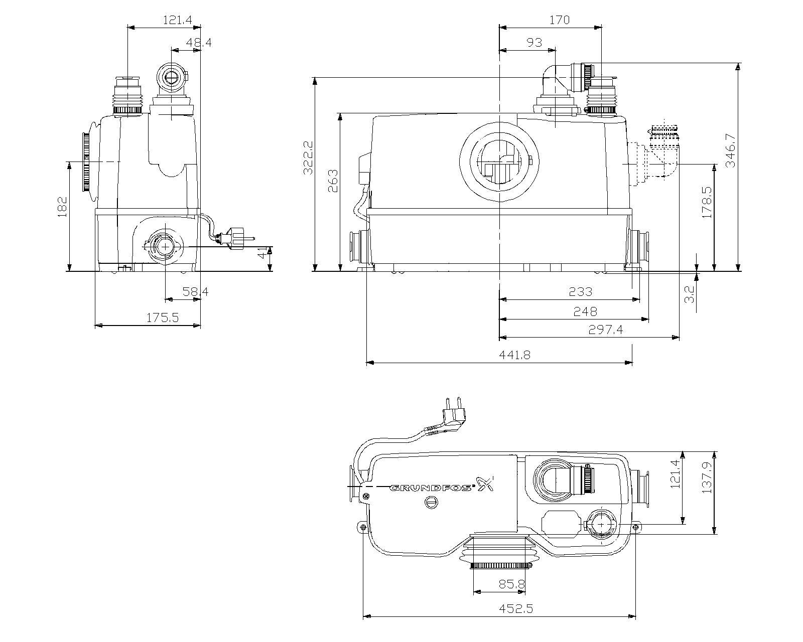 grundfos sololift2 wc 3 kleinhebeanlage g nstig kaufen 1a pumpen. Black Bedroom Furniture Sets. Home Design Ideas